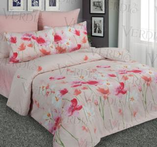КПБ перкаль печатный Полевые цветы 1.5-спальный