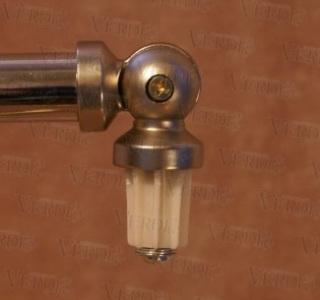 Соединитель угловой (эркер) 16 мм сатин