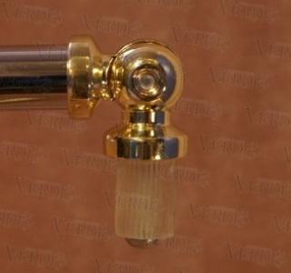 Соединитель угловой (эркер) 16 мм глянцевое золото