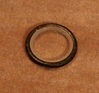 Кольцо со вставкой 16 мм черное золото