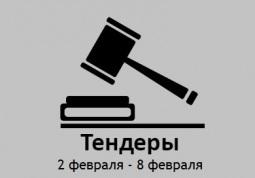 ТЕНДЕРЫ ПО ШТОРАМ. 2 февраля - 8 февраля