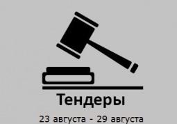 ТЕНДЕРЫ ПО ШТОРАМ. 23 августа - 29 августа