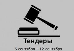 ТЕНДЕРЫ ПО ШТОРАМ. 6 сентября - 12 сентября