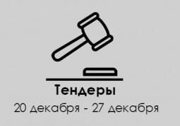 ТЕНДЕРЫ ПО ШТОРАМ. 20 декабря - 27 декабря