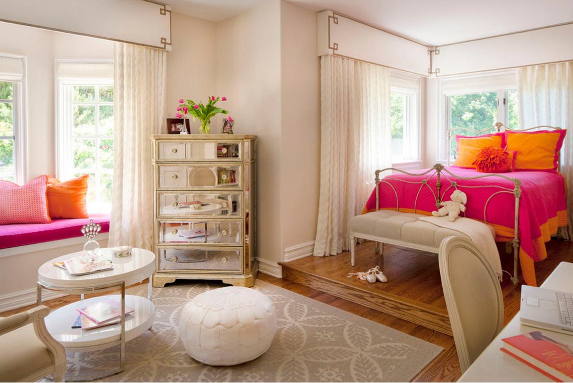 Дизайн интерьер комнаты подростка девушки