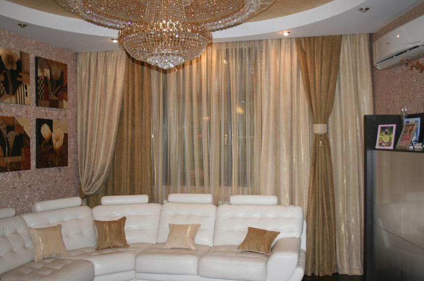 Дизайн штор фото гостиная