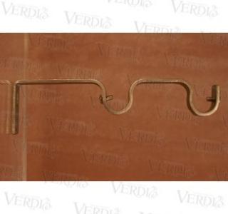 Кронштейн двойной плоский 16 мм сатин