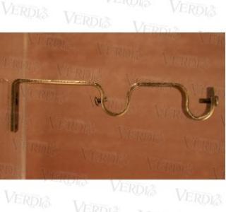 Кронштейн двойной плоский 16 мм старое золото