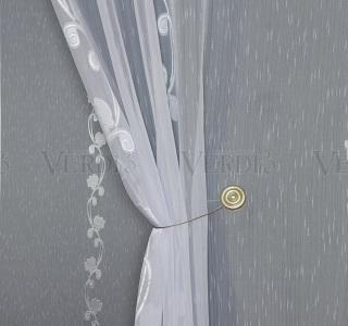 Тюль с утяж основа имит льна Габриэла