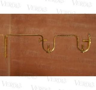 Кронштейн двойной плоский 16 мм  глянцевое золото