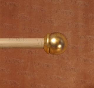 Наконечник Сфера d-16 мм матовое золото