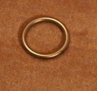 Кольцо c крючком  D-16 мм сатин