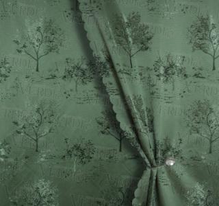 Портьера жаккард Одинокое дерево