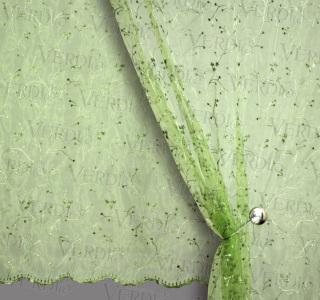 Органза с цветами Бланш
