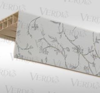 Потолочный карниз Венера прямой с пластиковой декоративной планкой 3х рядный  3м