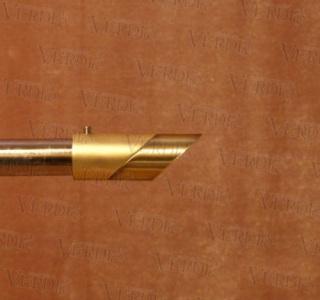 Наконечник Луна d-16 мм старое золото