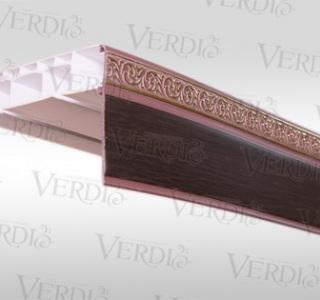 Потолочный карниз Афродита  прямой с пластиковой декоративной планкой 3х рядный  3м