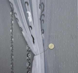 Тюль с утяж основа имит льна Пенелопа