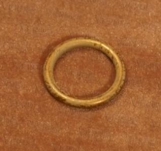 Кольцо с крючком D-16 мм белое золото
