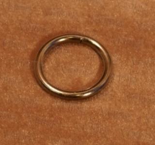 Кольцо D- 16 мм глянцевое серебро