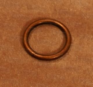 Кольцо D-16 мм медь