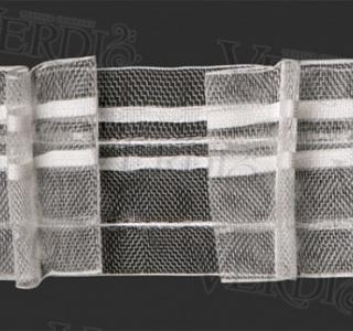 Тесьма С 152 органзовая, ширина рулона 6 см, 2 нити, в бобине 50м