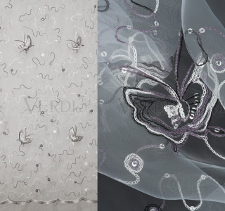 6001 Органза Бабочки