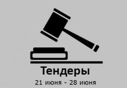 ТЕНДЕРЫ ПО ШТОРАМ. 21 июня - 28 июня