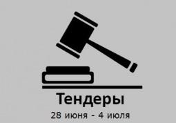 ТЕНДЕРЫ ПО ШТОРАМ. 28 июня - 05 июля