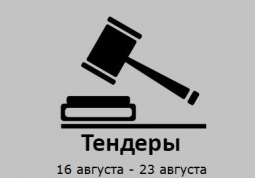 ТЕНДЕРЫ ПО ШТОРАМ. 16 августа - 22 августа