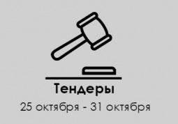 ТЕНДЕРЫ ПО ШТОРАМ. 25 октября - 31 октября