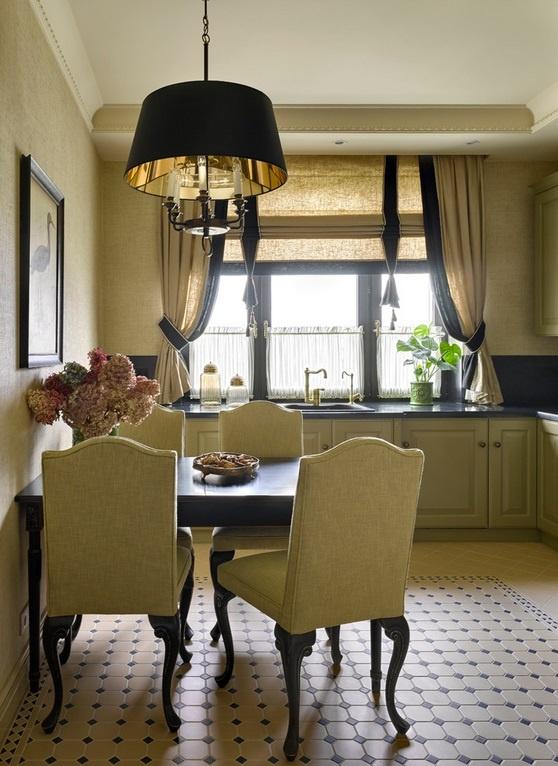Кухонные шторы в современном стиле